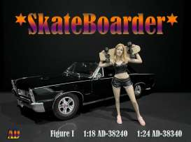 Figures  - Skateboarder #1 2020  - 1:18 - American Diorama - 38240 - AD38240 | Toms Modelautos