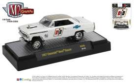 Chevrolet  - Nova Gasser *Hurst* 1967 white/gold - 1:64 - M2 Machines - 31600GS06 - M2-31600GS06 | Toms Modelautos