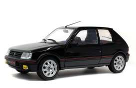 Peugeot  - 205 GTI black - 1:18 - Solido - 1801707 - soli1801707 | Toms Modelautos