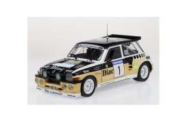 Renault  - 5 Turbo white/yellow/black - 1:18 - Solido - 1804705 - soli1804705 | Toms Modelautos