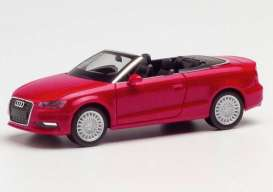 Audi  - A3 Cabrio red - 1:87 - Herpa - herpa038300-002 | Toms Modelautos