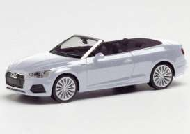 Audi  - A5 Cabrio silver - 1:87 - Herpa - herpa038768-002 | Toms Modelautos