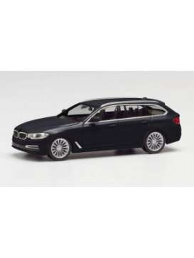 BMW  - 5 series touring black - 1:87 - Herpa - herpa420389-002 | Toms Modelautos