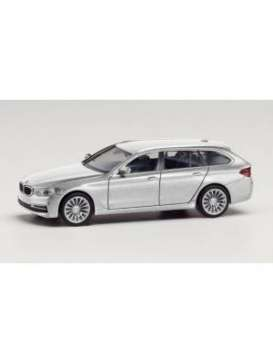 BMW  - 5 series touring silver - 1:87 - Herpa - herpa430708-002 | Toms Modelautos
