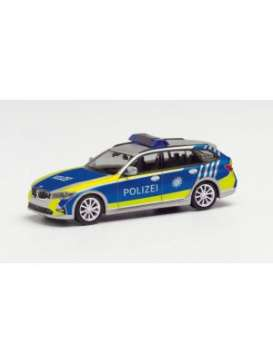BMW  - 3 touring silver/blue - 1:87 - Herpa - herpa095549 | Toms Modelautos