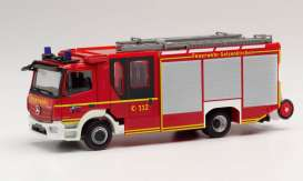 Mercedes Benz  - Atego red - 1:87 - Herpa - herpa095587 | Toms Modelautos