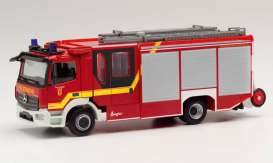 Mercedes Benz  - Atego red - 1:87 - Herpa - herpa095471 | Toms Modelautos