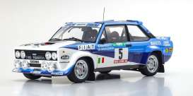 Fiat  - 131 Abarth 1980 white/blue - 1:18 - Kyosho - 8376A - kyo8376A | Toms Modelautos