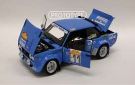 Fiat  - 131 Abarth 1978 blue - 1:18 - Kyosho - 8376C - kyo8376C | Toms Modelautos