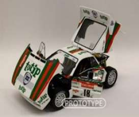 Lancia  - Rally 037 1983 white/red/green - 1:18 - Kyosho - 8306B - kyo8306B | Toms Modelautos