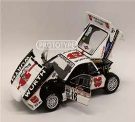 Lancia  - Rally 037 1983 white/red/black - 1:18 - Kyosho - 8306C - kyo8306C | Toms Modelautos