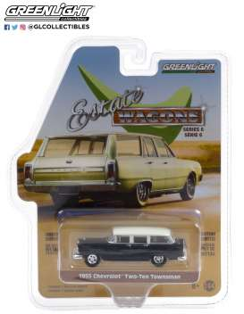 Chevrolet  - Two-Ten Townsman 1955 black/ivory - 1:64 - GreenLight - 36010A - gl36010A | Toms Modelautos