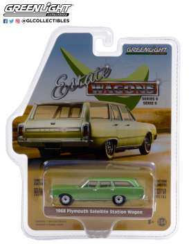 Plymouth  - Satellite 1968 green - 1:64 - GreenLight - 36010B - gl36010B | Toms Modelautos