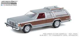 Mercury  - Grand Marque 1981 grey/wood - 1:64 - GreenLight - 36010E - gl36010E | Toms Modelautos
