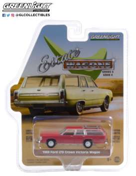 Ford  - LTD Crown 1981 red - 1:64 - GreenLight - 36010F - gl36010F | Toms Modelautos