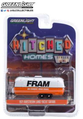 Airstream  - Double-Axle 1971 white/orange - 1:64 - GreenLight - 34090B - gl34090B | Toms Modelautos