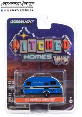 Winnebago  - Winnie Drop 2017 blue - 1:64 - GreenLight - 34090D - gl34090D | Toms Modelautos