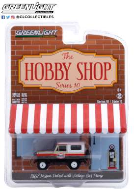 Nissan  - Patrol 1967 white/red/black - 1:64 - GreenLight - 97100A - gl97100A | Toms Modelautos