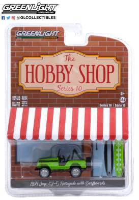 Jeep  - CJ-5 1971 green - 1:64 - GreenLight - 97100B - gl97100B | Toms Modelautos