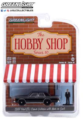 Ford  - LTD Crown 1987 black - 1:64 - GreenLight - 97100E - gl97100E | Toms Modelautos