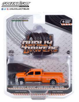 Chevrolet  - Silverado 2018 orange - 1:64 - GreenLight - 46060B - gl46060B | Toms Modelautos
