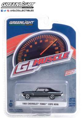 Chevrolet  - Yenko 1969 black - 1:64 - GreenLight - 13290A - gl13290A | Toms Modelautos