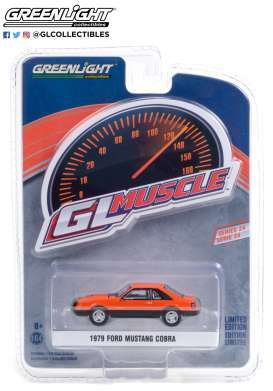 Ford  - Mustang 1979 orange/black - 1:64 - GreenLight - 13290C - gl13290C | Toms Modelautos