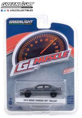 Dodge  - Charger 2018 crystal/black - 1:64 - GreenLight - 13290D - gl13290D | Toms Modelautos