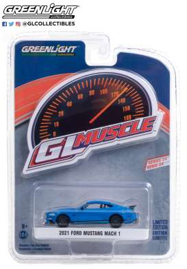 Ford  - Mustang 2019 blue/black - 1:64 - GreenLight - 13290F - gl13290F | Toms Modelautos