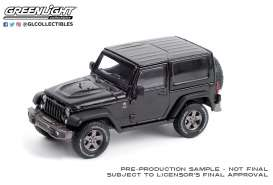 Jeep  - Wrangler 2016 black - 1:43 - GreenLight - 86187 - gl86187 | Toms Modelautos
