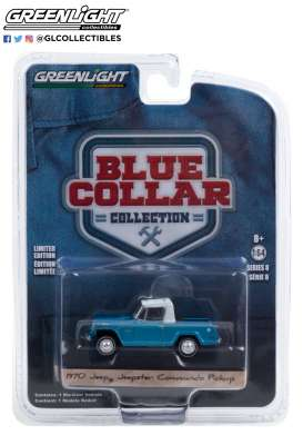 Jeep  - Commando 1970 light blue - 1:64 - GreenLight - 35180B - gl35180B | Toms Modelautos