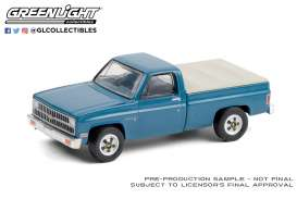 Chevrolet  - Custom DeLuxe 1981 light blue - 1:64 - GreenLight - 35180D - gl35180D | Toms Modelautos