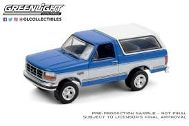 GMC  - Bronco 1992 blue/white - 1:64 - GreenLight - 35180F - gl35180F | Toms Modelautos