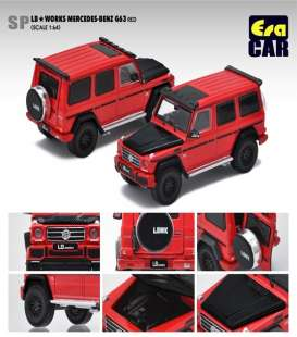 Mercedes Benz  - G63 AMG 2019 red - 1:64 - Era - Era204x4SP29 - Era204x4SP29 | Toms Modelautos