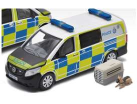 Mercedes Benz  - Vito 2020 white/blue/yellow - 1:64 - Era - MB20VITRN37 - Era20VITRN37 | Toms Modelautos