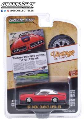 Dodge  - Charger 1971 red - 1:64 - GreenLight - 39060A - gl39060A | Toms Modelautos