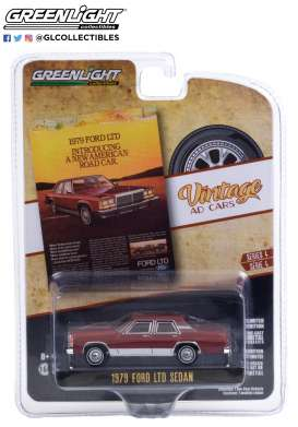 Ford  - LTD Crown 1979 burgundy - 1:64 - GreenLight - 39060C - gl39060C | Toms Modelautos
