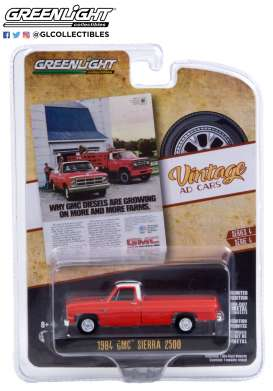 GMC  - Sierra 2500 1984 red - 1:64 - GreenLight - 39060F - gl39060F | Toms Modelautos