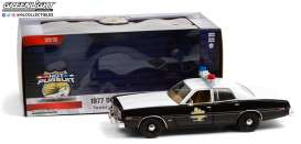 Dodge  - Monaco 1977 white/black - 1:24 - GreenLight - 85522 - gl85522 | Toms Modelautos