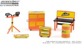 diorama Accessoires - orange/black - 1:64 - GreenLight - 16080A - gl16080A | Toms Modelautos