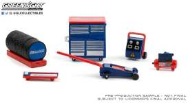 diorama Accessoires - blue/red/white - 1:64 - GreenLight - 16080B - gl16080B | Toms Modelautos