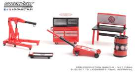 diorama Accessoires - red/black - 1:64 - GreenLight - 16080C - gl16080C | Toms Modelautos