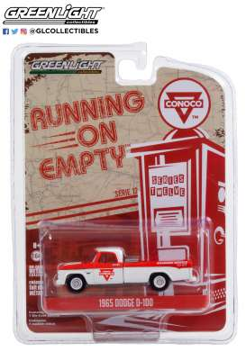 Dodge  - D-100 1965 white/red - 1:64 - GreenLight - 41120C - gl41120C | Toms Modelautos