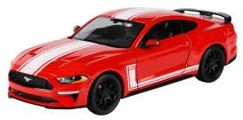 Ford  - Mustang GT 2018 red - 1:24 - Motor Max - 73787 - mmax73787 | Toms Modelautos