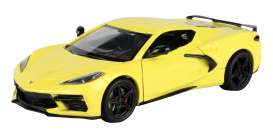 Corvette  - Stingray  2020 yellow - 1:24 - Motor Max - 79360 - mmax79360y | Toms Modelautos