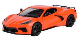 Corvette  - Stingray  2020 orange - 1:24 - Motor Max - 79360 - mmax79360o | Toms Modelautos