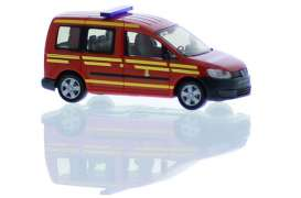 Volkswagen  - Caddy red - 1:87 - Rietze - R52918 - RZ52918 | Toms Modelautos