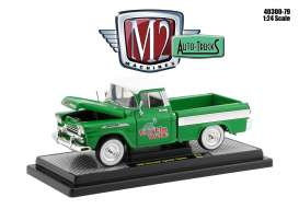 Chevrolet  - Apache 1958 green/white - 1:24 - M2 Machines - 40300-79B - M2-40300-79B | Toms Modelautos