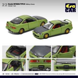 Honda  - Integra Type R DC2 green/black - 1:64 - Era - HA20DC2RN22 - Era20DC2RN22 | Toms Modelautos