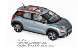 Citroen  - C3 Aircross 2017 silver/orange - 1:43 - Norev - 155333 - nor155333 | Toms Modelautos
